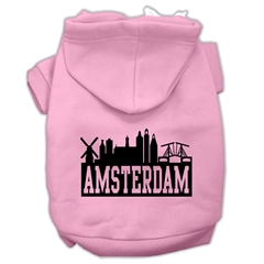 Mirage Pet Products Amsterdam Skyline Screen Print Pet Hoodies Light Pink Size Med (12)