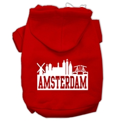 Mirage Pet Products Amsterdam Skyline Screen Print Pet Hoodies Red Size XL (16)