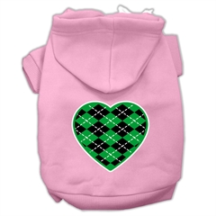 Mirage Pet Products Argyle Heart Green Screen Print Pet Hoodies Light Pink Size XXXL (20)