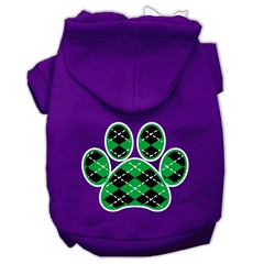 Mirage Pet Products Argyle Paw Green Screen Print Pet Hoodies Purple Size Sm (10)