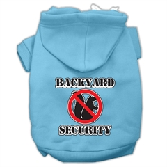 Mirage Pet Products Backyard Security Screen Print Pet Hoodies Baby Blue Size S (10)