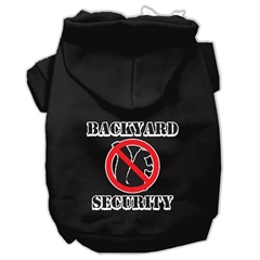 Mirage Pet Products Backyard Security Screen Print Pet Hoodies Black Size XXL (18)