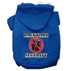 Mirage Pet Products Backyard Security Screen Print Pet Hoodies Blue XXXL(20)