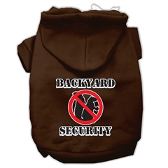 Mirage Pet Products Backyard Security Screen Print Pet Hoodies Brown Size M (12)