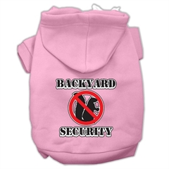 Mirage Pet Products Backyard Security Screen Print Pet Hoodies Light Pink Size M (12)