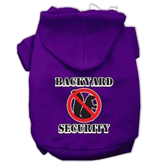 Mirage Pet Products Backyard Security Screen Print Pet Hoodies Purple Size XS (8)