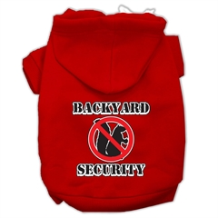 Mirage Pet Products Backyard Security Screen Print Pet Hoodies Red Size XXXL(20)