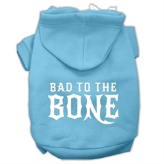 Mirage Pet Products Bad to the Bone Dog Pet Hoodies Baby Blue Size Med (12)