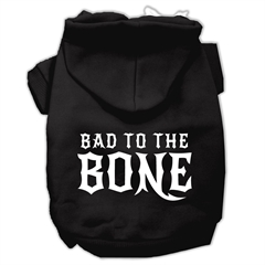 Mirage Pet Products Bad to the Bone Dog Pet Hoodies Black Size Med (12)