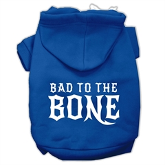 Mirage Pet Products Bad to the Bone Dog Pet Hoodies Blue Size Med (12)