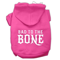 Mirage Pet Products Bad to the Bone Dog Pet Hoodies Bright Pink Size Lg (14)