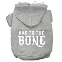 Mirage Pet Products Bad to the Bone Dog Pet Hoodies Grey Size XXL (18)