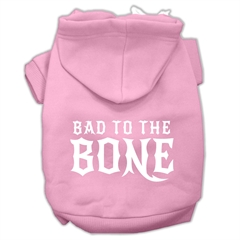 Mirage Pet Products Bad to the Bone Dog Pet Hoodies Light Pink Size Sm (10)