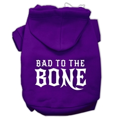 Mirage Pet Products Bad to the Bone Dog Pet Hoodies Purple Size Lg (14)