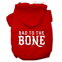 Mirage Pet Products Bad to the Bone Dog Pet Hoodies Red Size XL (16)