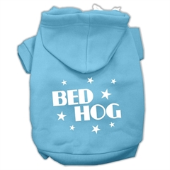 Mirage Pet Products Bed Hog Screen Printed Pet Hoodies Baby Blue Size XL (16)