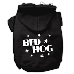 Mirage Pet Products Bed Hog Screen Printed Pet Hoodies Black Size Lg (14)