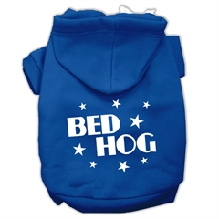 Mirage Pet Products Bed Hog Screen Printed Pet Hoodies Blue XXXL(20)