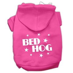 Mirage Pet Products Bed Hog Screen Printed Pet Hoodies Bright Pink Size XXL (18)