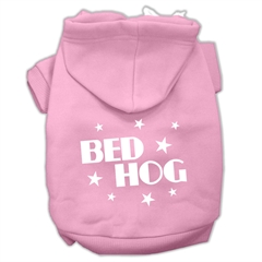 Mirage Pet Products Bed Hog Screen Printed Pet Hoodies Light Pink Size Lg (14)