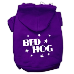 Mirage Pet Products Bed Hog Screen Printed Pet Hoodies Purple Size XL (16)