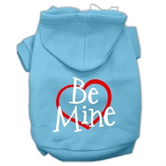 Mirage Pet Products Be Mine Screen Print Pet Hoodies Baby Blue Size XXXL (20)
