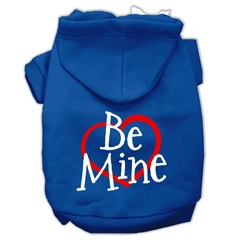 Mirage Pet Products Be Mine Screen Print Pet Hoodies Blue Size Lg (14)