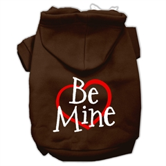 Mirage Pet Products Be Mine Screen Print Pet Hoodies Brown Size XS (8)