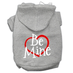 Mirage Pet Products Be Mine Screen Print Pet Hoodies Grey Size Lg (14)