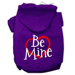 Mirage Pet Products Be Mine Screen Print Pet Hoodies Purple Size XXXL (20)