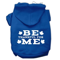 Mirage Pet Products Be Thankful for Me Screen Print Pet Hoodies Blue Size XS (8)