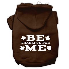 Mirage Pet Products Be Thankful for Me Screen Print Pet Hoodies Brown Size Lg (14)