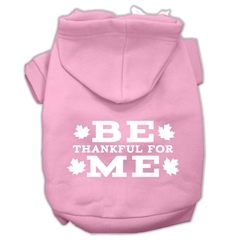 Mirage Pet Products Be Thankful for Me Screen Print Pet Hoodies Light Pink Size S (10)