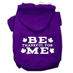 Mirage Pet Products Be Thankful for Me Screen Print Pet Hoodies Purple Size XS (8)