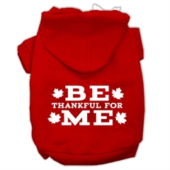 Mirage Pet Products Be Thankful for Me Screen Print Pet Hoodies Red Size XS (8)