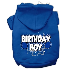 Mirage Pet Products Birthday Boy Screen Print Pet Hoodies Blue Size Lg (14)