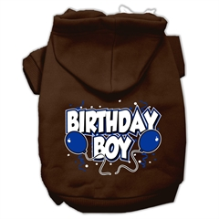 Mirage Pet Products Birthday Boy Screen Print Pet Hoodies Brown Size XXXL (20)