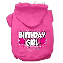 Mirage Pet Products Birthday Girl Screen Print Pet Hoodies Bright Pink Size XL (16)