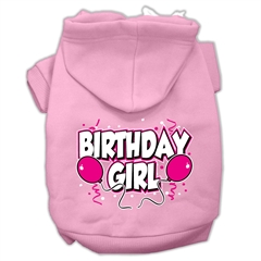 Mirage Pet Products Birthday Girl Screen Print Pet Hoodies Light Pink Size Med (12)