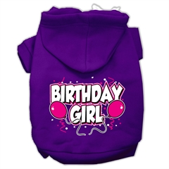Mirage Pet Products Birthday Girl Screen Print Pet Hoodies Purple Size XXXL (20)