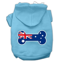 Mirage Pet Products Bone Shaped Australian Flag Screen Print Pet Hoodies Baby Blue XS (8)