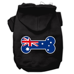 Mirage Pet Products Bone Shaped Australian Flag Screen Print Pet Hoodies Black XS (8)