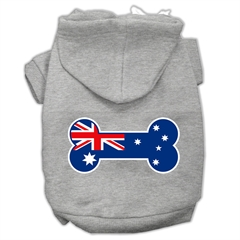 Mirage Pet Products Bone Shaped Australian Flag Screen Print Pet Hoodies Grey XS (8)