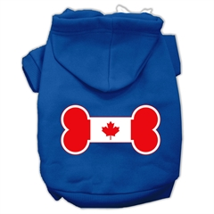 Mirage Pet Products Bone Shaped Canadian Flag Screen Print Pet Hoodies Blue M (12)