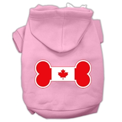 Mirage Pet Products Bone Shaped Canadian Flag Screen Print Pet Hoodies Light Pink Size S (10)