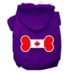 Mirage Pet Products Bone Shaped Canadian Flag Screen Print Pet Hoodies Purple XS (8)