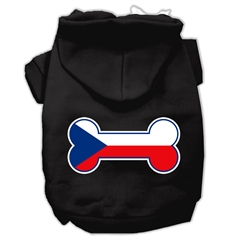 Mirage Pet Products Bone Shaped Czech Republic Flag Screen Print Pet Hoodies Black L (14)