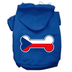 Mirage Pet Products Bone Shaped Czech Republic Flag Screen Print Pet Hoodies Blue XXL (18)