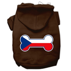 Mirage Pet Products Bone Shaped Czech Republic Flag Screen Print Pet Hoodies Brown Size XXXL(20)