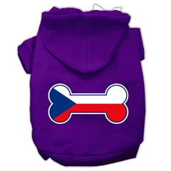 Mirage Pet Products Bone Shaped Czech Republic Flag Screen Print Pet Hoodies Purple S (10)